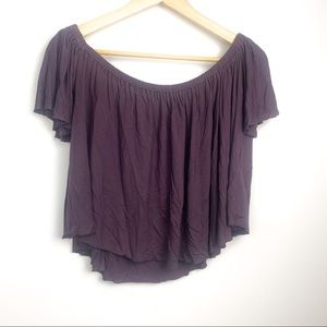 Truly madly deeply off shoulder crop top size M